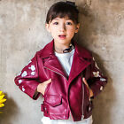 Children Clothing New Fashion Jackets Autumn Girls Coats PU Leather Outerwear