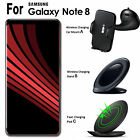 Wireless Quick Charger Fast Charging Stand Pad Dock Car Mount for Galaxy Note 8