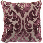 "Purple Paisley Floral Cushion Cover Throw Pillow Home Sofa Décor 17"" (43cm)"