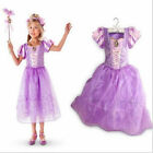 &Kids Girl Princess Aurora Rapunzel Cinderella Snow White Cosplay Dress 2-8T&