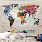 Vintage Tapestries Map Of The World Wide Sea Painting Wall Decor Beach Towel