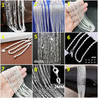 Wholesale Fashion 925 Sterling Silver Women Men Chain Necklace Jewelry 16-30Inch