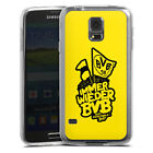 Samsung Galaxy S Modelle Silikon Case Hülle transparent - BVB Pokalfinale yellow