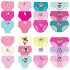 Girls Pack of 3 or 6 Shopkins Print Hipster Cotton Briefs Pants Shorts Knickers