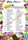 Pregnancy is Sweet, and so is Candy! Baby Shower Game 10/20 Sheets Players CUTE!