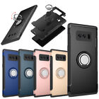 For Samsung Galaxy Note 8 Note 9 Phone Case Shockproof Ring Holder Hybrid Rubber