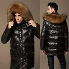 Fashion Mens 90% Duck Down Real Fur Collar Thick Coat Outwear Jacket Warm Winter