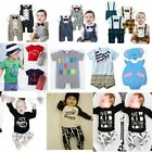 [SALE] Baby Toddler Boy Wedding Tuxedo Daily Outfit Romper Clothes Pants Set