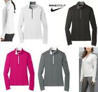 WOMEN'S NIKE, DRI FIT, STRETCH ,1/2 ZIP, PULLOVER, WICKING, LONG SLEEVE, S-2XL
