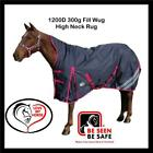 Love My Horse 5'9 - 6'3 1200D 300g Fill Winter Turnout High Neck Wug Rug Navy