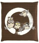 Japanese floor pillow cushion cover zabuton cotton Enso Owl 55 x 59cm