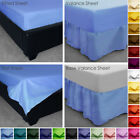 Poly Cotton Fitted, Valance, Base Valance, Flat Bed Sheets Plain Dyed Colours