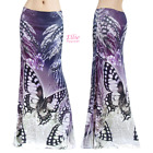 Butterfly Floral Animal Feather Sublimation maxi long skirt S/M/L/XL/1XL/2XL/3XL