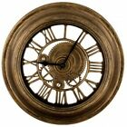 Gear Design Wall Clock Roman Numerals Vintage Antique Style Look Decor Round NEW