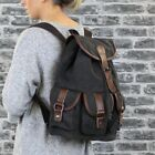 SALE Vintage CANVAS LEATHER BACKPACK RUCKSACK Bag School University Women S8092