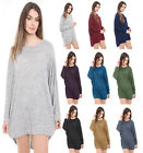 Women Plain Knitted Baggy Batwing Top Ladies Oversized Top Casual Wear Long Top