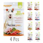 Bis Jerky Treat Natural Healthy Dog Snack Gum Bacon Fruits Vegetable 7 Flavors