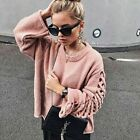 ZARA SWEATER WITH BRAIDED SLEEVES PINK S,M,L REF. 6873/103 AW17 BLOGGERS FAV.