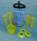 Set of Four Towel Stakes With Cup Holder