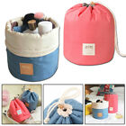 Women's Makeup Case Drawstring Pouch Bucket Barrel Shaped Travel Cosmetic Bag