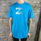 Billabong Fade out short Sleeve T-Shirt in Acid Blue Size L.