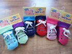 "New Baby ""Bright"" Anti Slip Socks Trainer/Shoe Style-2 Pair Set.  ea"