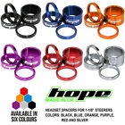 "Hope Space Doctor 2x5mm 1x10mm 1x20mm Spacers For 1-1/8"" Steerer All Colors New"