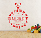 Merry+Christmas+%26+Happy+New+Year+Bauble+Shop+Window+Wall+Decal+Vinyl+sticker