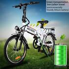 "25"" 250W 36V Folding Electric Mountain Bicycle EBike Speed Battery Black"