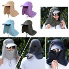 Hiking Hat Outdoor Sport UV Sun Protection Neck Face Flap Cap Wide Brim Fishing