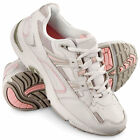 WOMENS LEATHER ORTHOTIC PLANTAR FASCIITIS WALKING SPORT SHOES White
