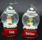 Ganz Personalize Snowglobe Snow Globe Ornament Names Starting with D E F G H J