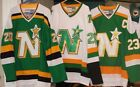 DINO CICCARELLI BRIAN BELLOWS JERSEY THROWBACK MINNESOTA WILD NORTH STARS