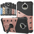 Rugged Protective Hard Armor Case Kickstand Cover For Motorola Moto G5s Plus