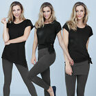 Avon Active 3-In-1 T-Shirt ~ Black ~ Size 12/14 ~ New