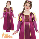 Child Maid Marion Costume Medieval Tudor Girl Book Day Fancy Dress Outfit Kids