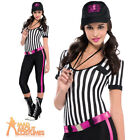 Adult Sexy Referee Costume Instant Replay Outfit Ladies Sports Fancy Dress New