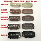 QUALITY MINI HAIR EXTENSION CLIPS SNAP WIG CLIPS FOR TOUPEES HAIR PIECES 24 mm