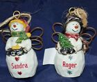 Ganz Country Angels Personalized Ornament Snow Man Ornament Names A - C