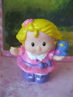 FISHER PRICE LITTLE PEOPLE RARE HTF SARAH LYNN W BLUE BIRD ON SHOULDER  FIGURE