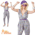 Adult Boogie Fever Costume 70s Ladies Fancy Dress Disco Nights Dolly Outfit New