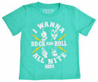 Внешний вид - KISS Rock n Roll Toddler Boys Music Band T-Shirt - Turquoise