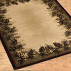 Pine Cone Border Rug Various Sizes and Shapes with FREE Shipping