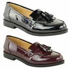 WOMENS LADIES FLAT TASSEL LOAFERS SMART CASUAL SCHOOL OFFICE WORK SHOES SIZE