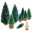 5pcs Tabletop Christmas Pine Tree White Mini White Pine Tree Small Decorations