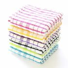 Pack of 3, 6, 9,12 Tea Towels 100% Cotton Kitchen Dish Cloths Cleaning Drying