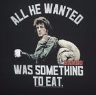 Rambo T-Shirt All He Wanted Was Something To Eat First Blood 80's Retro Tee Film