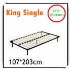 New King Single Metal Bed Frame Bed Base Bedroom Furniture w/ Wooden Slat