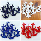 Anchor Buttons Plastic 17mm x 15mm 4 Colours Sold Per 10 Buttons