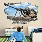 Sniper Soldier Army Military War Wall Sticker Mural Decal Kids Boys Bedroom Cp1